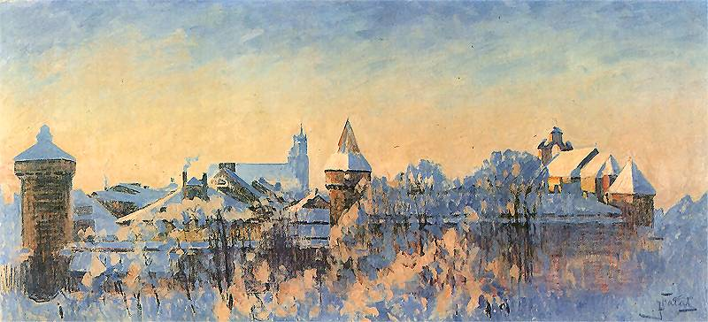 Jakie drzewiej w Krakowie zimy bywały i jak to widzieli artyści...