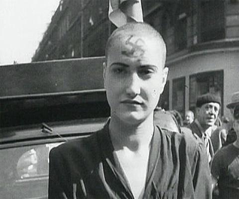 francuskie kobiety ogolone po wyzwoleniu